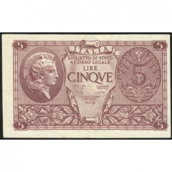 Italie - Pick 31b variété - 5 lire - 1948 - Etat : SPL