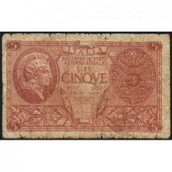 Italie - Pick 31c - 5 lire - 1950 - Etat : B
