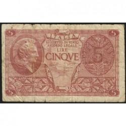 Italie - Pick 31c - 5 lire - 1950 - Etat : TB-
