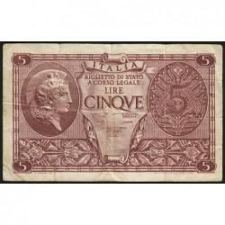 Italie - Pick 31c - 5 lire - 1950 - Etat : TB+