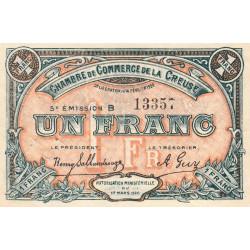 Gueret (Creuse) - Pirot 64-20 - 1 franc - Série B - 5e émission - 14/02/1920 - Etat : TTB