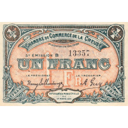 Gueret (Creuse) - Pirot 64-20-B - 1 franc - 1920 - Etat : TTB
