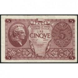 Italie - Pick 31c - 5 lire - 1950 - Etat : TTB+