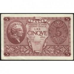 Italie - Pick 31c - 5 lire - 1950 - Etat : SUP