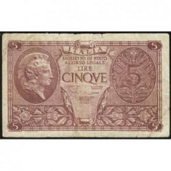 Italie - Pick 31c - 5 lire - 1950 - Etat : TB