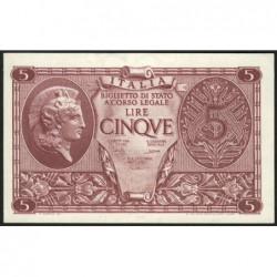 Italie - Pick 31c - 5 lire - 1950 - Etat : NEUF