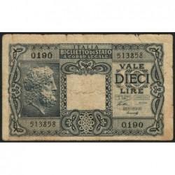 Italie - Pick 32a - 10 lire - 1946 - Etat : B