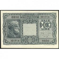 Italie - Pick 32b - 10 lire - 1948 - Etat : SPL+