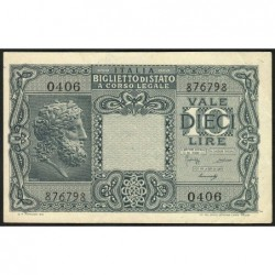 Italie - Pick 32b - 10 lire - 1948 - Etat : SUP+
