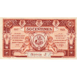 Aurillac (Cantal) - Pirot 16-12 variété - 50 centimes - Série J - 1917 - Etat : SPL