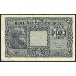 Italie - Pick 32b - 10 lire - 1948 - Etat : TTB