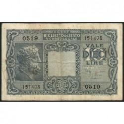 Italie - Pick 32c - 10 lire - 1950 - Etat : TB+
