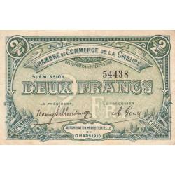 Gueret (Creuse) - Pirot 64-21 - 2 francs - Sans série - 5e émission - 14/02/1920 - Etat : TB+