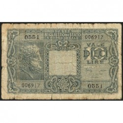 Italie - Pick 32c - 10 lire - 1950 - Etat : B