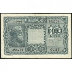 Italie - Pick 32c - 10 lire - 1950 - Etat : TTB