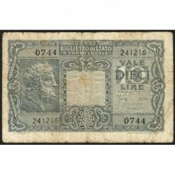 Italie - Pick 32c - 10 lire - 1950 - Etat : TB-