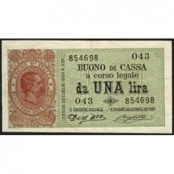 Italie - Pick 34 - 1 lira - 1894 - Etat : TTB+ à SUP
