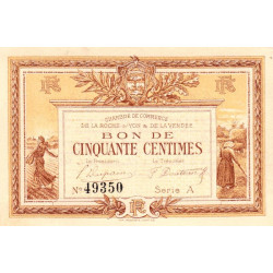 La Roche-sur-Yon (Vendée) - Pirot 65-1 - 50 centimes - Série A - 1915 - Etat : SPL+