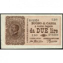 Italie - Pick 37c - 2 lire - 1920 - Etat : TTB+