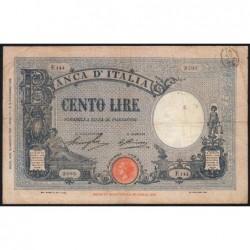 Italie - Pick 50b - 100 lire - 12/08/1929 - An VII - Etat : TB