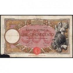 Italie - Pick 51b - 500 lire - 21/03/1930 - An VIII - Etat : AB