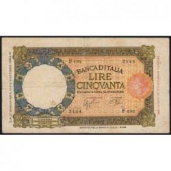 Italie - Pick 54b - 50 lire - 27/05/1939 - An XVII - Etat : TB