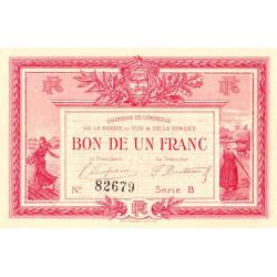 La Roche-sur-Yon (Vendée) - Pirot 65-5 - 1 franc - Série B - 1915 - Etat : NEUF