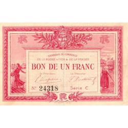 La Roche-sur-Yon (Vendée) - Pirot 65-5 - 1 franc - Série C - 1915 - Etat : TTB