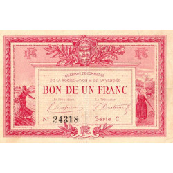 La Roche-sur-Yon (Vendée) - Pirot 65-5-C - 1 franc - 1915 - Etat : TTB