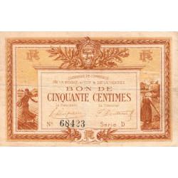 La Roche-sur-Yon (Vendée) - Pirot 65-14 - 50 centimes - Série D - 1915 - Etat : TB+