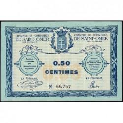Saint-Omer - Pirot 115-1 - 50 centimes - N° avec 5 chiffres - 14/08/1914 - Etat : NEUF