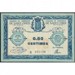 Saint-Omer - Pirot 115-1 - 50 centimes - N° avec 6 chiffres - 14/08/1914 - Etat : TTB+