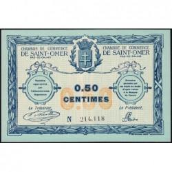 Saint-Omer - Pirot 115-1 - 50 centimes - N° avec 6 chiffres - 14/08/1914 - Etat : SPL+