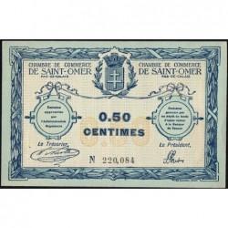 Saint-Omer - Pirot 115-1 - 50 centimes - N° avec 6 chiffres - 14/08/1914 - Etat : SUP