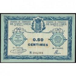 Saint-Omer - Pirot 115-1 - 50 centimes - 14/08/1914 - N° avec 6 chiffres - Etat : TTB
