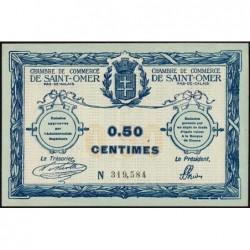 Saint-Omer - Pirot 115-1 - 50 centimes - N° avec 6 chiffres - 14/08/1914 - Etat : SUP+