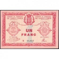 Saint-Omer - Pirot 115-4av (variété) - 1 franc - 14/08/1914 - N° avec 5 chiffres - Etat : SPL+