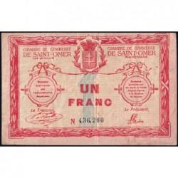Saint-Omer - Pirot 115-4b - 1 franc - 14/08/1914 - N° avec 6 chiffres - Etat : TB-