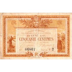 La Roche-sur-Yon (Vendée) - Pirot 65-14 - 50 centimes - Série E2 - 1915 - Etat : TB