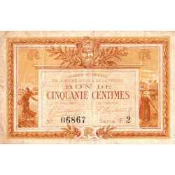 La Roche-sur-Yon (Vendée) - Pirot 65-14-E2 - 50 centimes - 1915 - Etat : TB