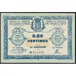 Saint-Omer - Pirot 115-7 - 50 centimes - 14/08/1914 - 5me émission - Etat : SPL+