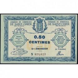 Saint-Omer - Pirot 115-7 - 50 centimes - 14/08/1914 - 5me émission - Etat : SUP+