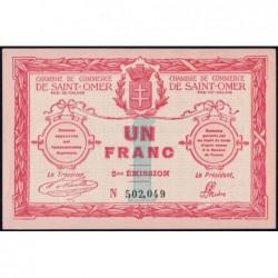 Saint-Omer - Pirot 115-10 - 1 franc - 14/08/1914 - 5me émission - Etat : SPL+