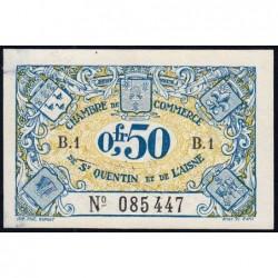 Saint-Quentin - Pirot 116-1 - 50 centimes - Série B.1 - Sans date - Etat : SUP