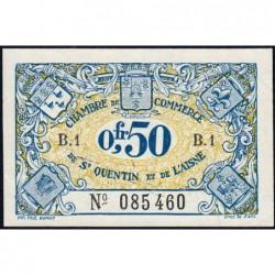 Saint-Quentin - Pirot 116-1 - Série B.1 - 50 centimes - Sans date - Etat : SUP+