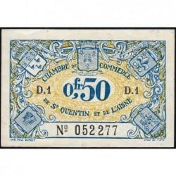 Saint-Quentin - Pirot 116-1- Série D.1 - 50 centimes  - Sans date - Etat : SPL