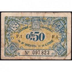 Saint-Quentin - Pirot 116-1 - 50 centimes - Série F.1 - Sans date - Etat : TB-