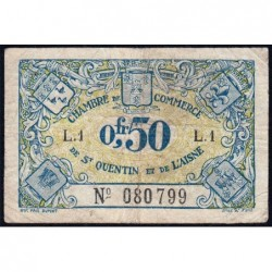 Saint-Quentin - Pirot 116-1 - 50 centimes - Série L.1 - Etat : TB