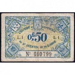 Saint-Quentin - Pirot 116-1 - 50 centimes - Série L.1 - Sans date - Etat : TB