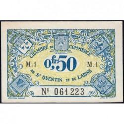 Saint-Quentin - Pirot 116-1 - Série M.1 - 50 centimes - Sans date - Etat : pr.NEUF